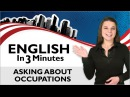 Learn English Asking About Occupations What is your Job
