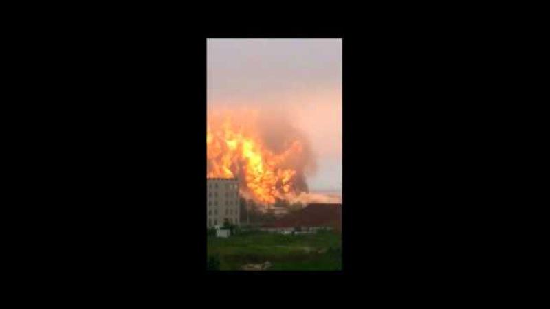 Китай. Взрыв на нефтехимическом заводе в Жичжао провинции Шаньдун
