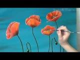 Маки (poppies). Живопись маслом (oil painting).