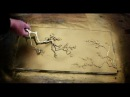 How to make TREE BLOSSOM STENCILS out of HOT GLUE