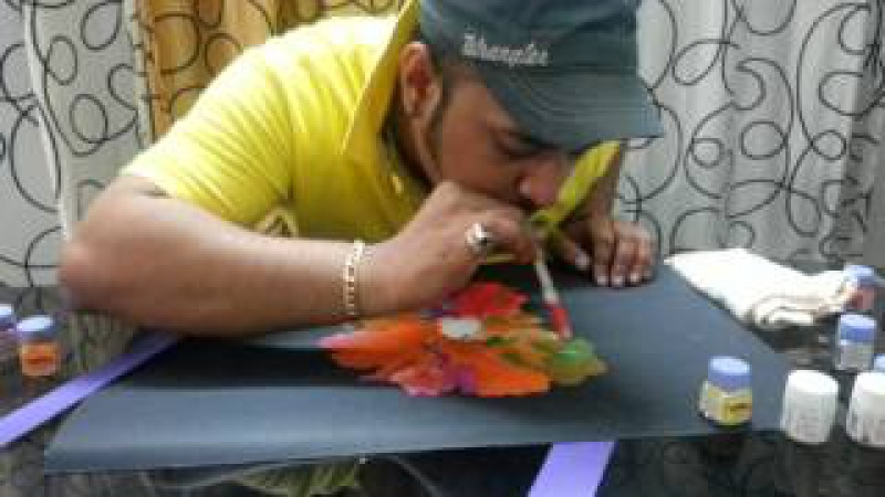 Blow painting technique by Dr.Naresh Rathod
