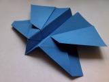 Как сделать из бумаги самолет который летает - Origami Butterfly Paper Plane