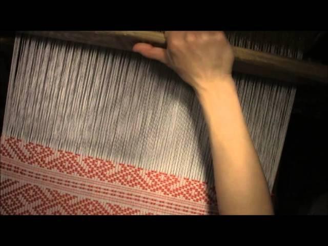 Узорная полоса в технике двухуточного браного ткачества