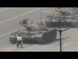 1989 Man vs. Chinese tank Tiananmen square