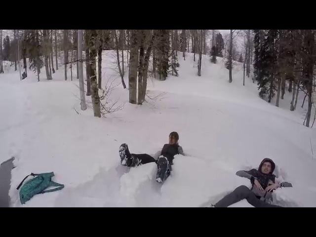 Сноубординг Красная поляна Газпром Gopro