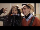 Aerosmith Steven Tyler sings with a street musician in Moscow, Russia 04.09.2015