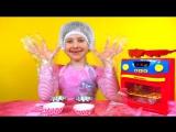 Happy Kitchen How to Make muffins Готовим вкусные маффины играем игрушечной плитой