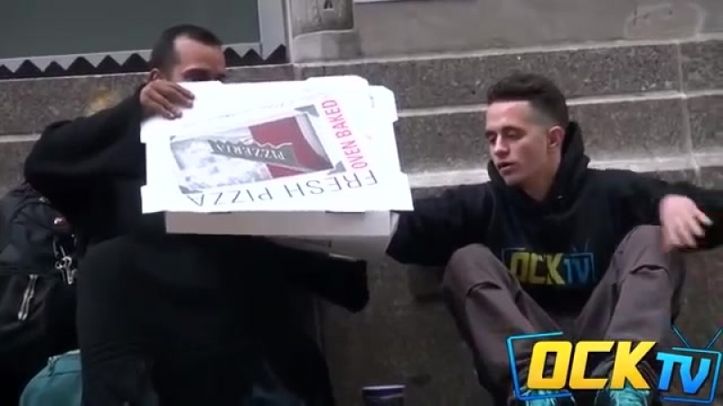 They Gave A Homeless Man A Pizza What He Did With It Broke Me Down