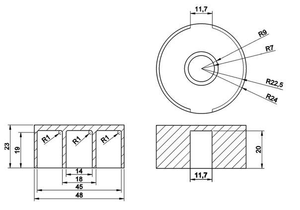 чертеж модулятора для мт-9 и