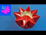Оригами подсвечник своими руками Поделки из бумаги на Новый Год