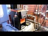 Установка пеллетной горелки в твердотопливный котел Куппер