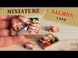Полимерная глина - РЫБА (кулинарная миниатюра) - Polymer clay SALMON fish cane Светлана Няшина