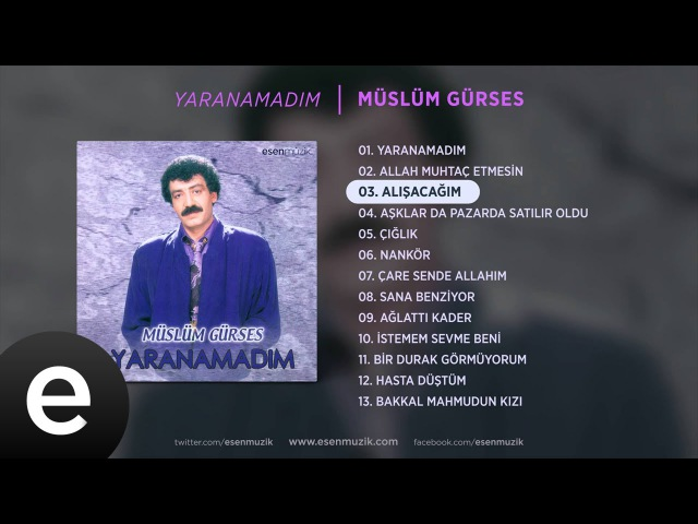 Alışacağım (Müslüm Gürses) Official Audio alışacağım müslümgürses - Esen Müzik