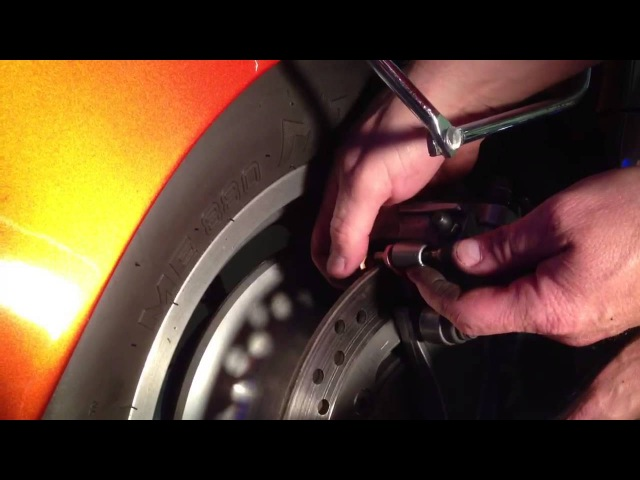 Changing the rear brakes on a 2002 Honda Shadow Sabre 1100. By How-to Bob