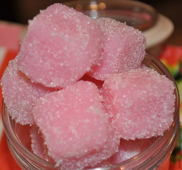 Мыльный скраб сахарный своими руками