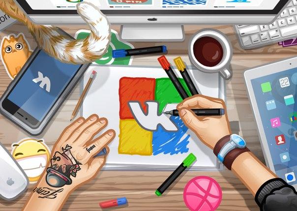 ВКонтакте проводит конкурс на разработку стилистики интерфейсных иллюстраций.
