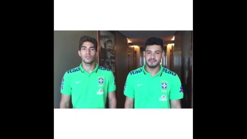 Lucas Silva and Vinicius Araujo. Selecao Olimpica.