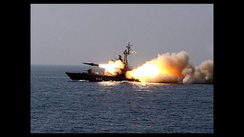 Противокорабельная ракета «Москит» поразила мишень (Antiship missile Moskit fired a drifting target)