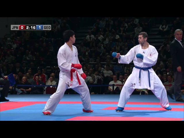 FINAL. Gogita ARKANIA vs Ryutaro ARAGA. 2014 World Karate Championships. Male Kumite -84kg
