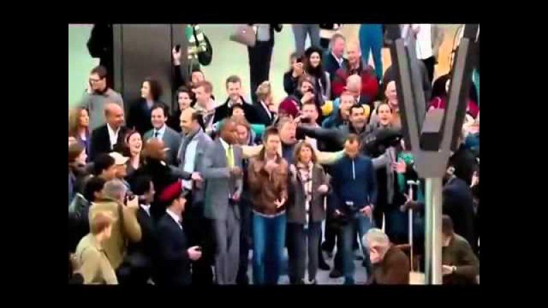 Flash Mob Прекрасный флэшмоб в аэропорту Хитроу Англия Лондон