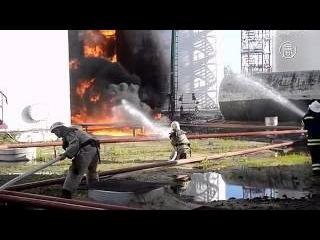 Эксперты: пожар на нефтебазе - экокатастрофа (новости)