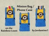 Пенал-миньон из резиное New Minion Bag / Phone Case / Purse / Pencil Pouch - Made on the Rainbow Loom