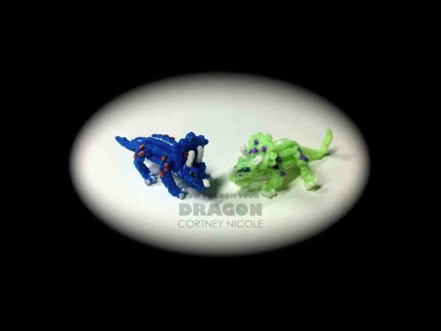 Rainbow Loom Dinosaurs: Triceratops, 1 Loom (динозавр, трицератопс, dinosaurier, dinosaure)