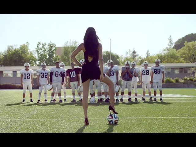 Adriana Lima Shows Americans What Football Is In Her Country