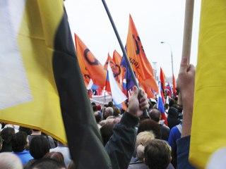 Русские националисты на митинге «За Сменяемость Власти»