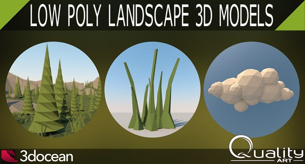 Low Poly Clouds Pack - 2