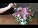 Изготовление букета Оазис с цветами ♥Лилии, Альстромерия, Кустарные розы♥ на ...