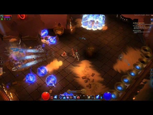 Torchlight 2 - Embermage lvl 100 - Tarroch's Tomb - 2M DMG (modded game)