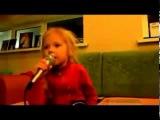шок!!! девочка 5 лет перепела Григория Лепса   Рюмка водки на столе! Очень круто!