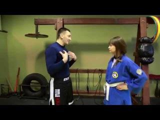 Удар коленом в Пах. Рукопашный бой обучение