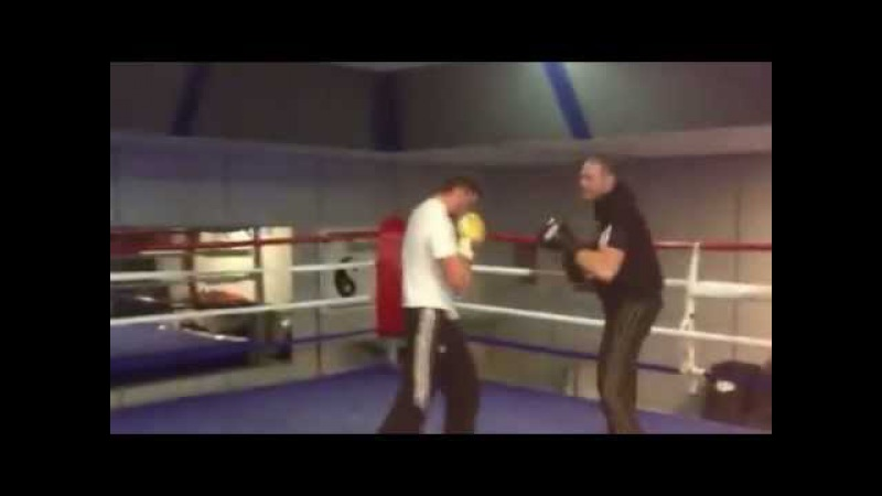 Tyson Fury body sparring Hughie Fury
