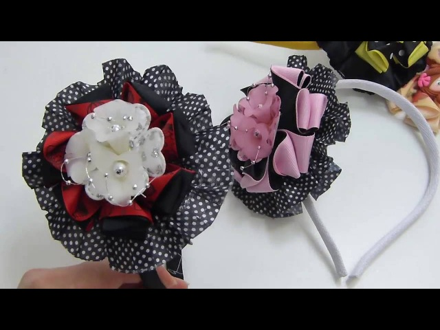 Como Hacer lindas flores y moños de cinta, How to make beautiful flowers and ribbon bows