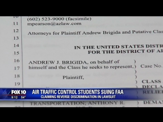 FAA hires air traffic controllers off the street, students claim reverse discrimination .