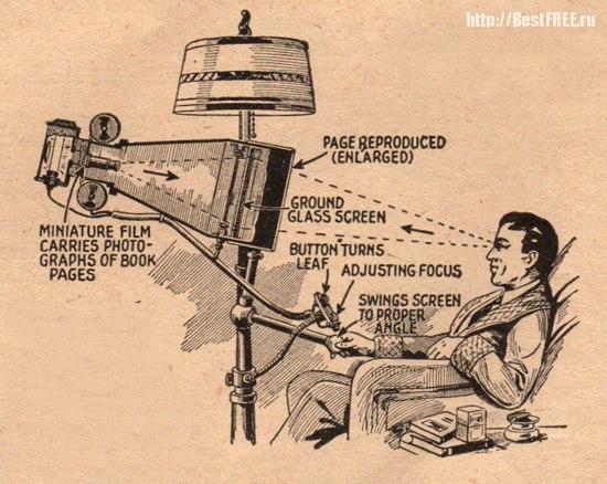 Гипотетический букридер будущего в 1935 году
