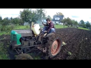 Plowing with HTZ 7 (2)