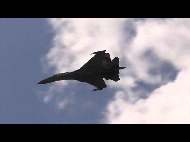 Высший пилотаж Су-35C / Su-35S ( Flanker-E). Легкая музыка.
