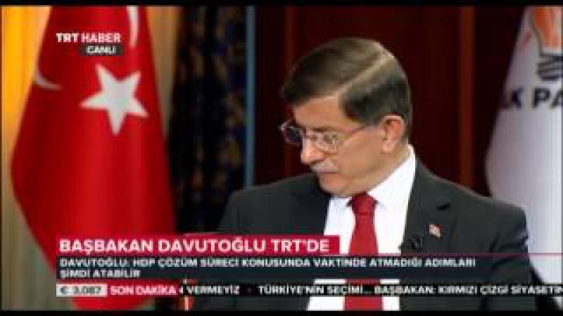 Başbakan Davutoğlu, TRT Özel Yayında Soruları Yanıtladı 10 Haziran 2015