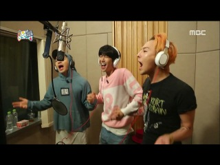 G-DRAGON x TAEYANG x Kwang Hee recording their song - E440 Infinity Challenge 150808