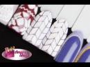 ❅ Мастер-класс Вязание на ногтях. Косичка-ромбики. Эффект вязания, косичка на н ...