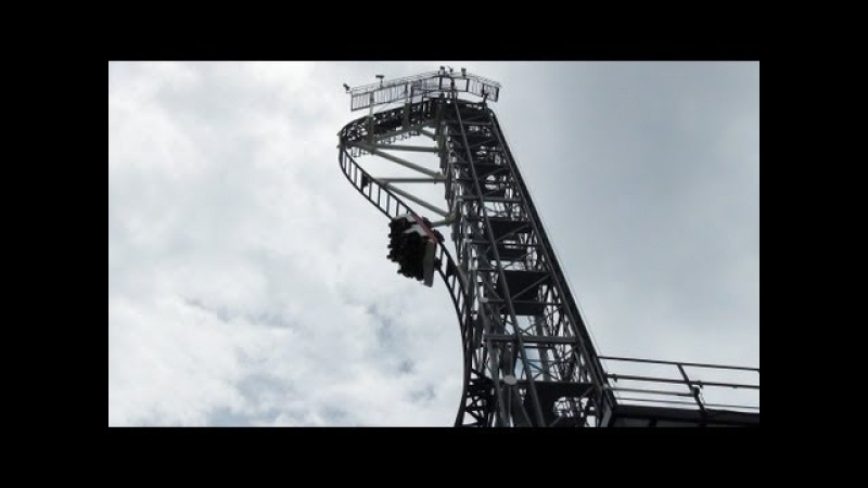 Takabisha World's Steepest Roller Coaster POV Fuji-Q Highland Japan