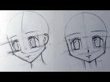 Как нарисовать аниме голову