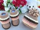 Вязаные сапожки и вязаные шапочки для детей. Knitted and crochet Baby Hats and Booties.