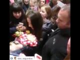 Наталия Орейро в Пулково-1 20.11.2015
