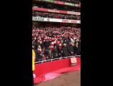 Arsenal fans after Leicester City win 2-1 at Emirates