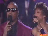 Stevie Wonder &amp Whitney Houston - We didn't Know (live).1990