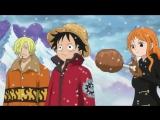 One Piece, 623 серия, прикол, Луффи, Нами, Санджи и мясо